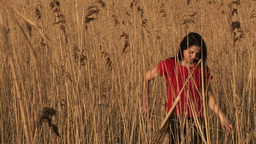 Woman in Reeds Footage