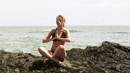 Female doing Yoga Footage