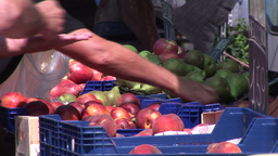 A French Farmers Market Footage