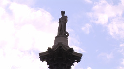 Nelson`s Column stock footage
