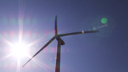 Wind powered generators Footage