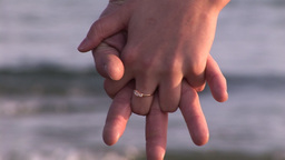 Young Couple holding Hands Footage