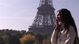 Hispanic woman on phone 4 Live Action