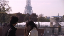 Tourists in Paris Footage