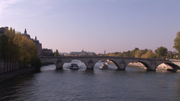 Evening Sun over the River Seine Footage