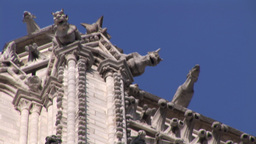 Close up of Notre Dame Footage