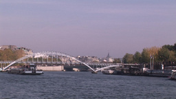 Boat on the River Seine Footage