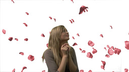 Woman Looking at Roses 2 Animation