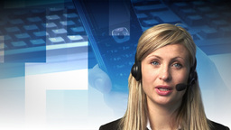 Attractive Woman with Headset Animation