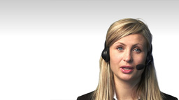 Attractive businesswoman with a headset Animation