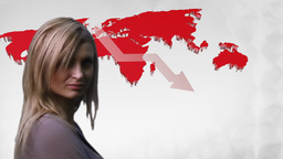 Businesswoman looking at Graph Animation