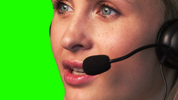 Green Screen Footage of a Freindly Businesswoman Animation