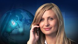 Businesswoman making a phone call Animation
