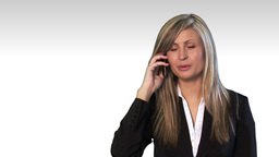 Talking business over the phone and smiling Animation