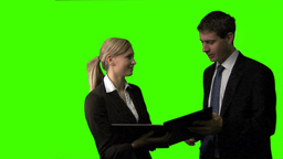 Green screen footage of a Business Meeting Animation
