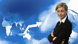 Confident Attractive Businesswoman 6 Animation