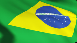 Brazilian Flag in High Definition Live Action