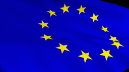 3d Render Of The EU Flag stock footage