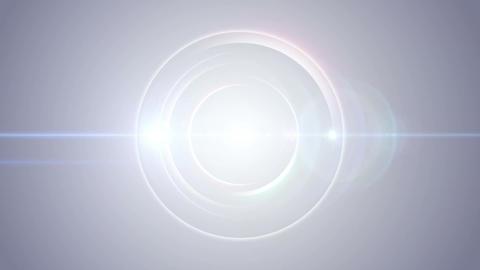 Opening intro Flash light flare W 1 blue Short 4k Animation