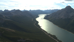 HD2009-9-33-23 aerial mountains and lake Stock Video Footage