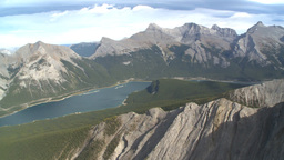 HD2009-9-33-29 aerial mountains and lake Stock Video Footage