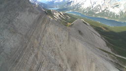 HD2009-9-33-31 aerial mountains and lake Stock Video Footage