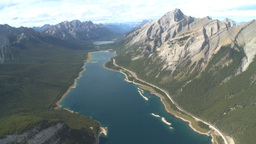 HD2009-9-33-33 aerial mountains and lake Stock Video Footage