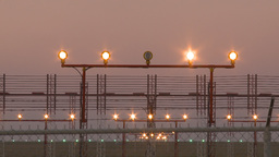 HD2009-9-35-5 Airbus laning lights fence runway Footage