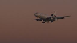 HD2009-9-35-7 DC10 landing at dusk Footage