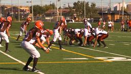HD2009-9-36-5 high school football Stock Video Footage