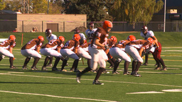HD2009-9-36-7 high school football incomplete pass Stock Video Footage