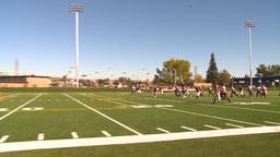 HD2009-9-36-9 high school football kick return Stock Video Footage
