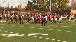 HD2009-9-36-13 high school football handoff tackle loss Stock Video Footage