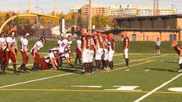 HD2009-9-36-17 high school football huddle run TD Footage