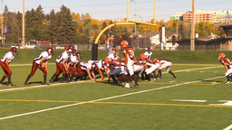 HD2009-9-36-19 high school football huddle run TD Footage