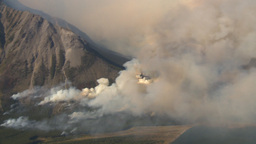HD2009-9-37-5 Forest fire heavy smoke aerial Stock Video Footage