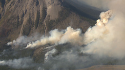 HD2009-9-37-7 Forest fire heavy smoke aerial Stock Video Footage