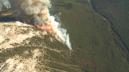 HD2009-9-37-11 Forest fire big flames aerial spectacular Footage