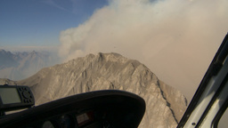HD2009-9-37-15 Forest fire in cockpit helo Stock Video Footage