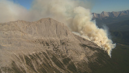HD2009-9-37-17 Forest fire aerial Stock Video Footage