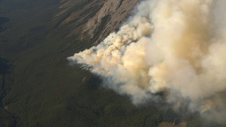 HD2009-9-37-19 Forest fire aerial Stock Video Footage