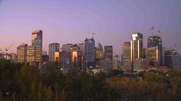 HD2009-9-39-18 cityscape sunrise TL Stock Video Footage