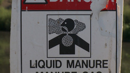 HD2009-9-41RC-9 liquid manure gas warning z Footage