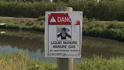 HD2009-9-41RC-9 liquid manure gas warning z Stock Video Footage