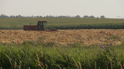 HD2009-9-41RC-11 combine haying tracking Stock Video Footage