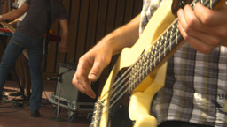 HD2009-9-9-1 rock band bassist Stock Video Footage