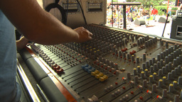 HD2009-9-9-3 rock band soundboard Stock Video Footage