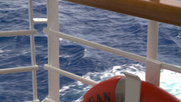 HD2008-8-11-12 ocean through deck rail Stock Video Footage