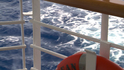 HD2008-8-11-12 ocean through deck rail Footage
