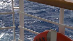 HD2008-8-11-12 ocean through deck rail Stock Video Footage